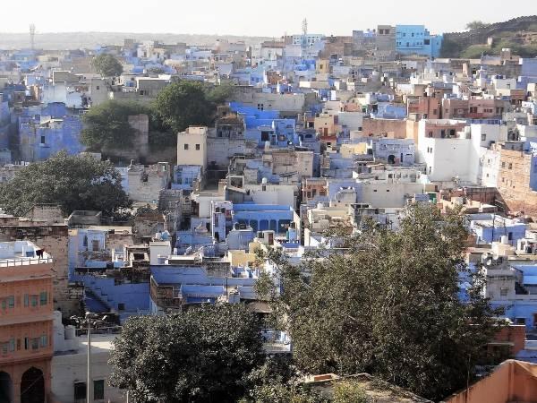 Rajasthan quartier de maisons bleues à Jodhpur