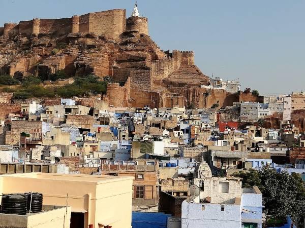 Jodhpur quartier aux pieds de la citadelle