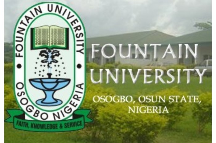 Fountain University Osogbo (FUO) Postgraduate Admission Form for 2020/2021 Academic Session