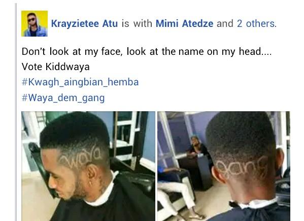Benue State University Graduate Carves Kiddwaya's Name On His Head