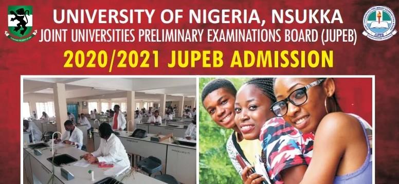 University of Nigeria Nsukka (UNN) JUPEB Admission Form For 2020/2021 Academic Session