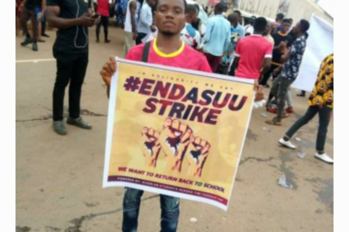 UNIZIK Students Stage Massive Protest Over Prolonged ASUU STRIKE
