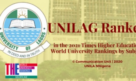 UNILAG Ranked in 2021 THE World University Rankings by Subject