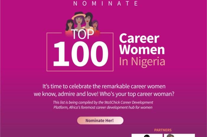 Nominate Your Remarkable Top 100 Career Women in Nigeria
