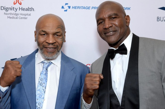 Boxing legends, Mike Tyson, 54, and Evander Holyfield, 58, 'in talks over a £200m trilogy fight in Dubai'