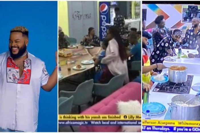 """BBNaija: """"I'll enter the kitchen only when a new Head of House emerges"""" – Whitemoney turns down Angel's plea (Video)"""