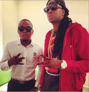 Olamide strikes a pose with 2chainz