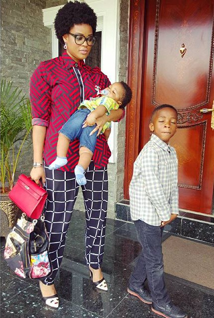 Adaeze Yobo and Kids