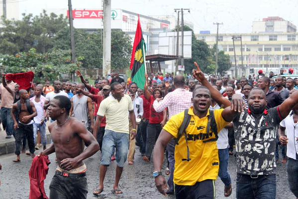 Biafra Protesters