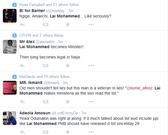 Lai Mohammed Ministerial List6