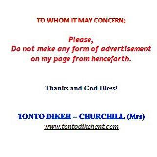 Tonto Dikeh Ban
