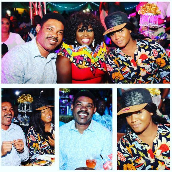 Omotola Jalade and Husband Attend Oga Madam Live