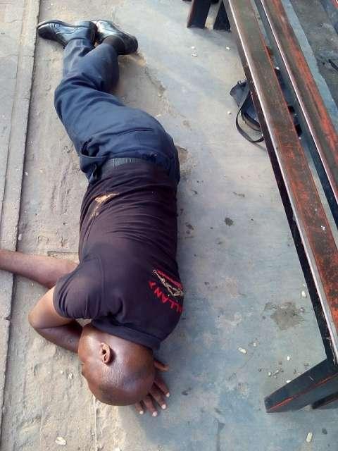 Drunk Nigerian policeman