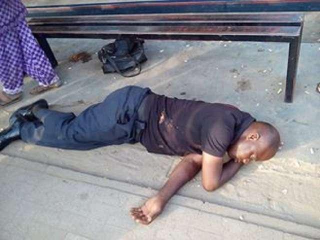 Drunk Nigerian policeman`