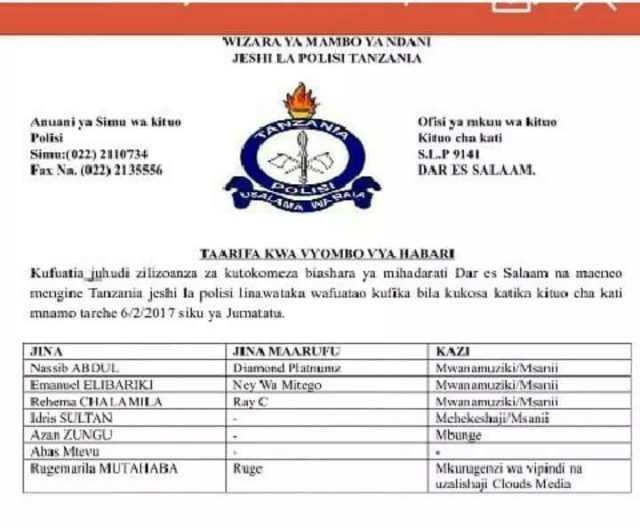 Wema Sepetu Drug Trafficker1