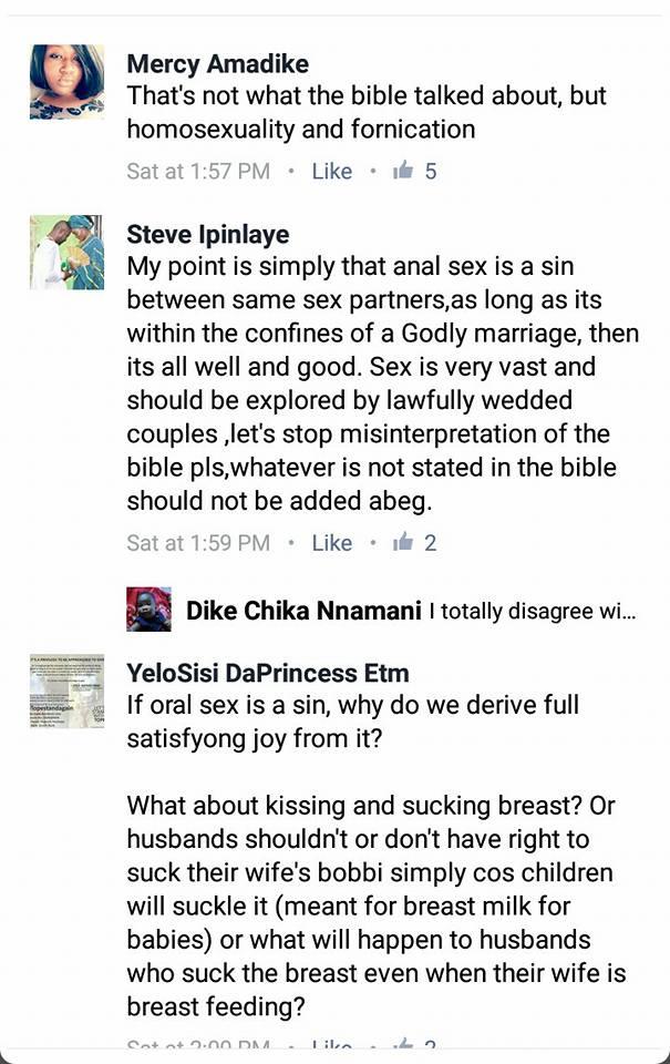 Marrige bible anal sex