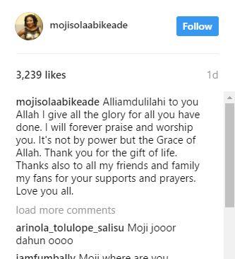 Moji Olaiya's Last post