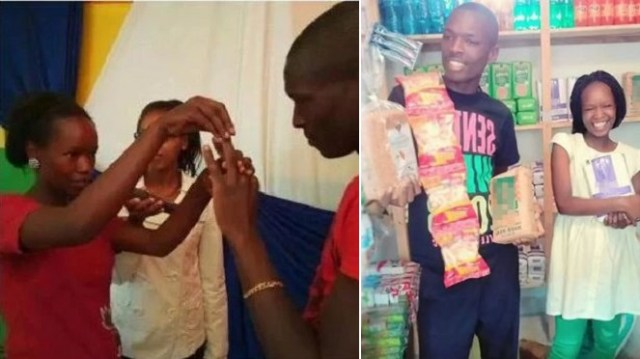 Kenyan Couple Who Went Viral After They Spent Only Sh100 On Their Wedding, Return To Street Hawking. (Photos)