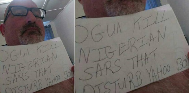"""May ogun kill Nigerian sars that disturb yahoo boys"" — White man says"
