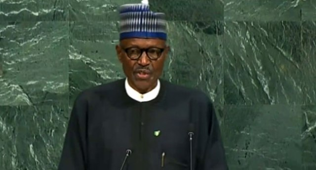 President Buhari Addresses UN General Assembly