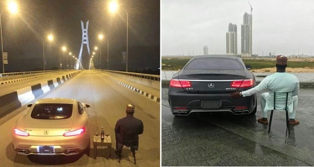 Viral Photo Of A Man Chilling Alone In The Middle Of The Road On Lekki-Ikoyi Link Bridge