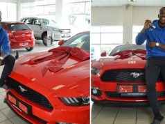 man receives ford mustang