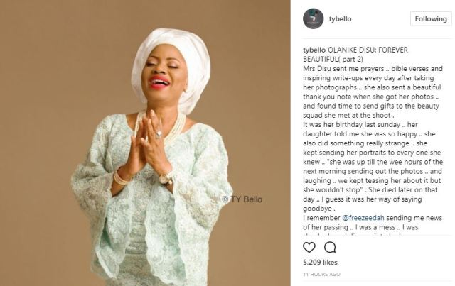 ty bello pays tribute