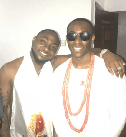 "Davido Benin 0 - ""I wish my mum was alive to see this picture"" — Davido says as he shares portrait with Oba of Benin, Oba Ewuare II"