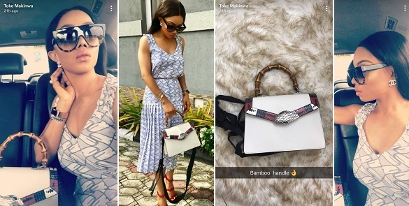 Checkout Toke Makinwa Rocking Her 1.3m Gucci Bag