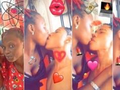 Teenage Nigerian Couple share deep kiss