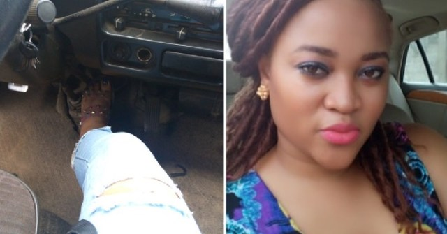 Nigerian Lady Fighting Agbero Holds Brake