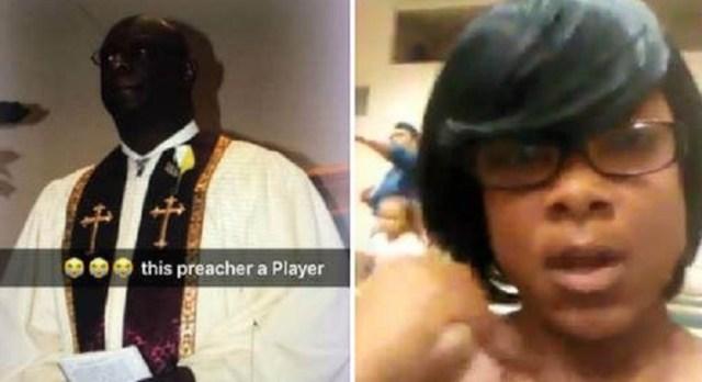 woman interrupts church service