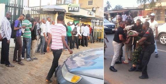 Policeman beat up Soldier at ATM queue in Damaturu