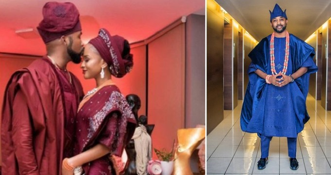 """I Don't Deserve This Woman But God Saw It Fit To Bless Me"" – Banky W Says As He Steps Out For His Traditional Wedding."