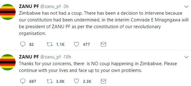 Robert Mugabe removed