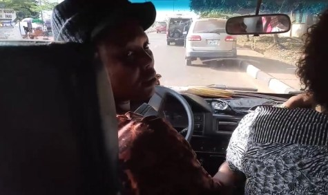 Female Bus Driver 01 - Meet Nigerian woman with 4 kids who drives a danfo bus all by herself without any conductor