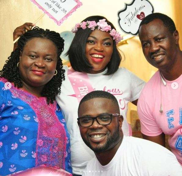 Funke Akindele denies giving birth