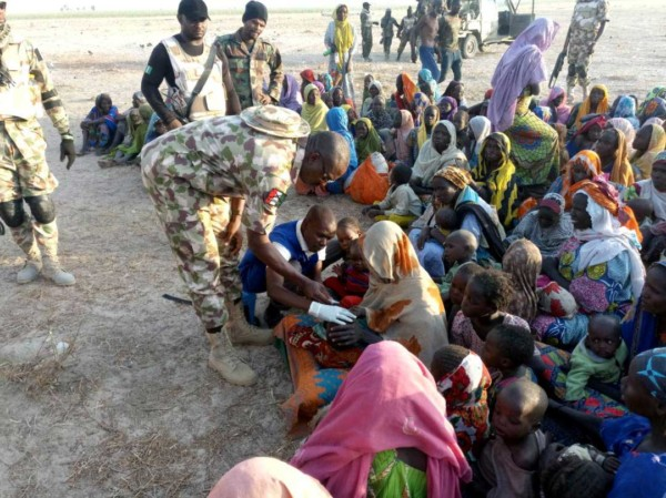 Nigerian Army Rescues Captives1 - Nigerian Army Rescues 212 Captives, Captures 1 Boko Haram Commander