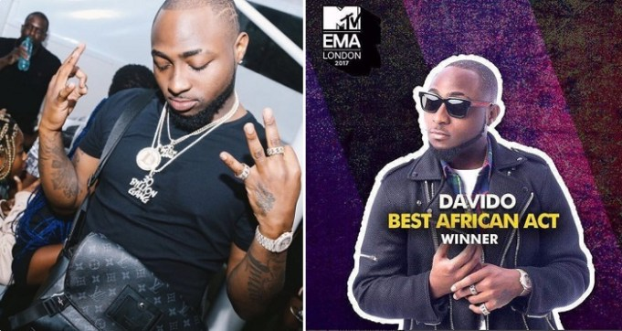 Davido Win MTV EMA Best African Act 2017