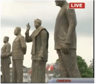 "j 3 - ""Why i am building statues"" – Governor Rochas Okorocha explains, unveils Liberian president's statue"