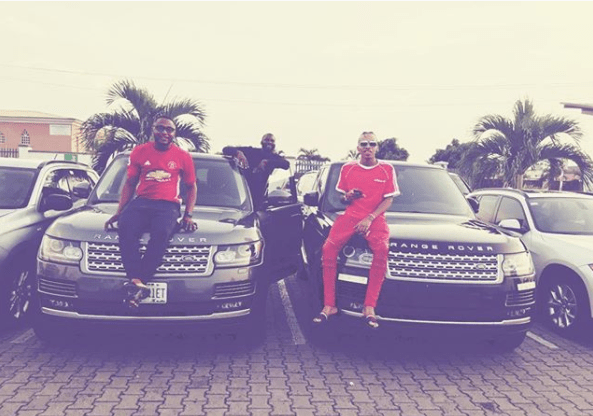 Ubi Franklin Show Off Identical Range Rovers