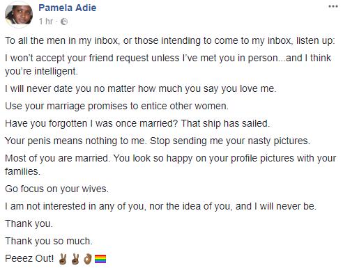 Nigerian Lesbian Lady tells men