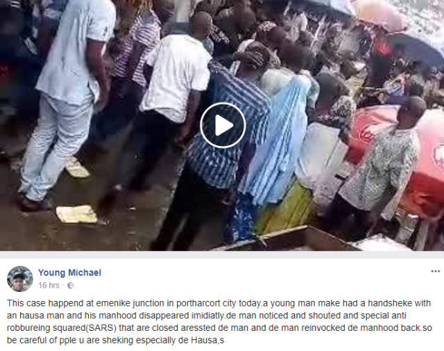 sut - Hausa Man Returns P3nis He Stole With A Handshake In Port-Harcourt (Video)