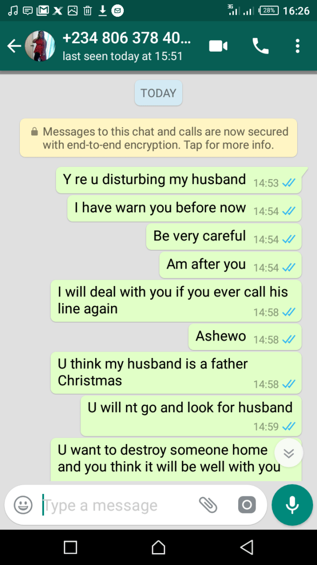 24946377 311227742702297 1881997586 o - Lady Exposes Woman Who's Trying To Sleep With Her Husband; Shares Screenshots.