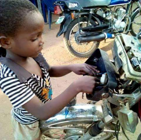 8-Year-Old Boy Owns Motorcycle Repair Workshop