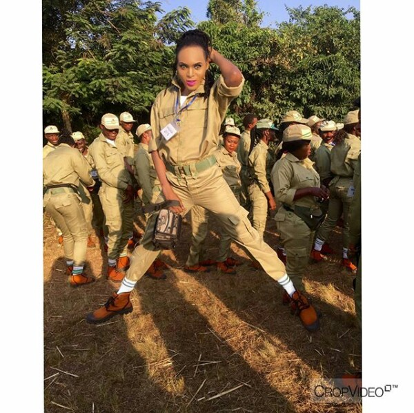 IMG 20171205 141659 835 - Cross dresser is the main centre of attention at NYSC Orientation camp (new photos)