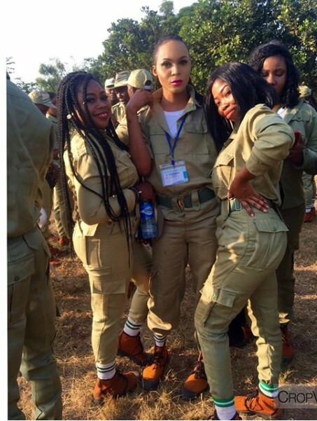 IMG 20171205 141736 811 - Cross dresser is the main centre of attention at NYSC Orientation camp (new photos)