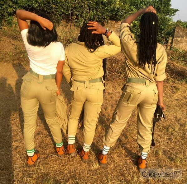 IMG 20171205 141826 453 - Cross dresser is the main centre of attention at NYSC Orientation camp (new photos)
