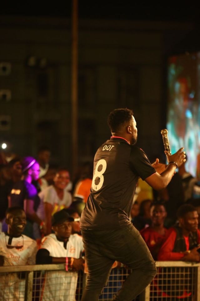 IMG 6299 preview - Davido, Runtown, Mr. P, Niniola, Oritsefemi, 9ice, Olu Maintain, Falz & more Shutdown Barbeach at the Merrybet Celebrity Fans Challenge Event
