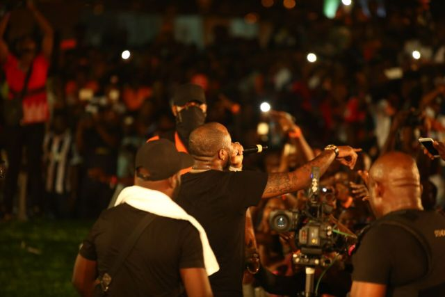 IMG 7750 preview - Davido, Runtown, Mr. P, Niniola, Oritsefemi, 9ice, Olu Maintain, Falz & more Shutdown Barbeach at the Merrybet Celebrity Fans Challenge Event